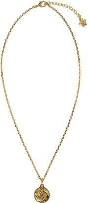 Versace Gold Round Medusa Necklace $275 thestylecure.com