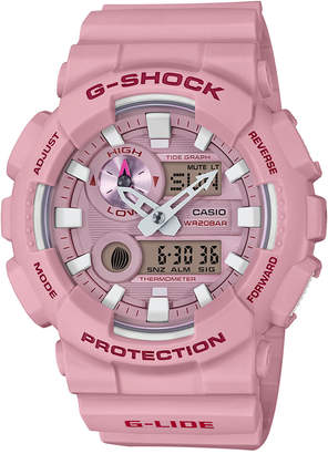 G-Shock Men's Analog-Digital Light Pink Resin Strap Watch 51.2mm