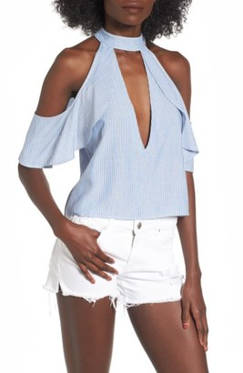 Women's Arrive Eden Cold Shoulder Halter Top $58 thestylecure.com