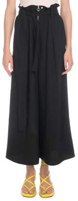 Proenza Schouler High-Waist Paperbag Wide-Leg Pants