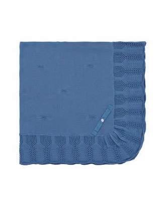 Carrera Pili Knit Cotton Baby Blanket w/ Ruffle Border