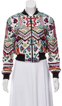 Alice + Olivia Silk Beaded Jacket w/ Tags
