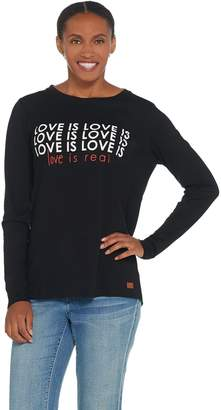 Peace Love World Long Sleeve Knit Love Tee