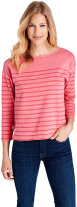 Vineyard Vines Over-Dyed Striped Boatneck Top
