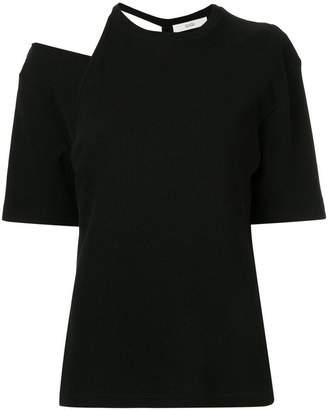 G.V.G.V. cut-out waffle T-shirt