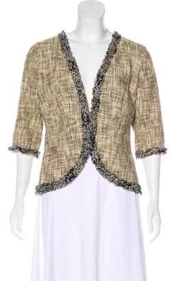 Chanel Ruffled Tweed Jacket