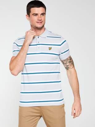 Multi Stripe Polo Shirt - Silver-Grey
