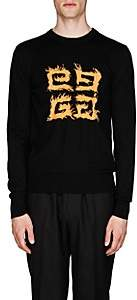 Givenchy Men's 4G-Flame-Motif Wool Sweater - Black