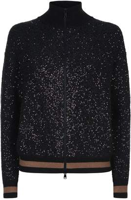 Brunello Cucinelli Sequin Knit Bomber