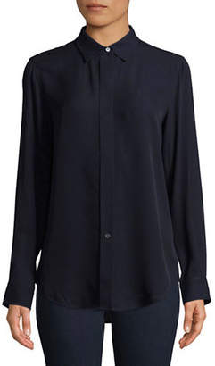 Theory Essential Silk Button-Down Shirt