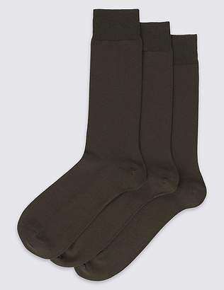 Marks and Spencer 3 Pack Luxury Egyptian Cotton Rich Socks