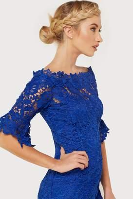 Paper Dolls Blue Crochet Dress