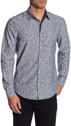 Original Penguin Floral Long Sleeve Heritage Slim Fit Shirt