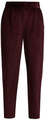 Isabel Marant Meloy High Rise Corduroy Trousers - Womens - Burgundy