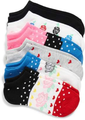 Sof Sole Rose Fair Isle Assorted 6-Pack No-Show Socks