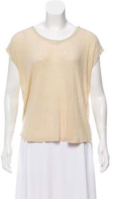 Burning Torch Intentional-Pilling Short Sleeve Top