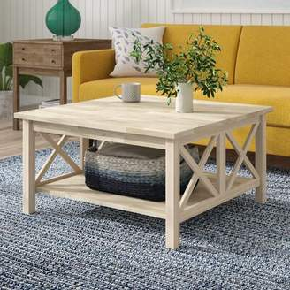 Beachcrest Home Cosgrave Double X Coffee Table