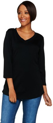 Isaac Mizrahi Live! Essentials Pima Cotton 3/4 Sleeve Tunic
