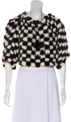 Armani Collezioni Fur Knit Top