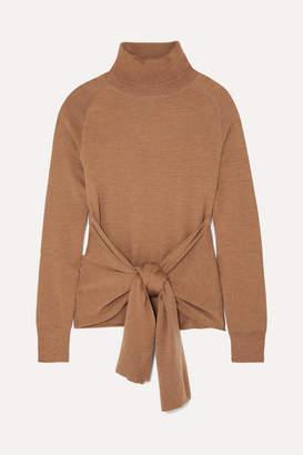 J.W.Anderson Tie-front Wool Turtleneck Sweater - Camel