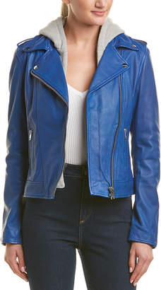 LAMARQUE Hooded Leather Jacket