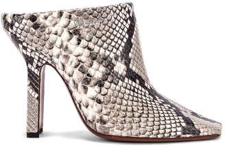 99a00fae160d8 Vetements Snake Boomerang High Heel Mules in White   FWRD