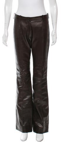 CelineCéline Leather Wide-Leg Pants