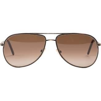 Bottega Veneta Brown Metal Sunglasses