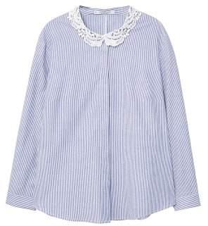 Violeta BY MANGO Lace striped shirt