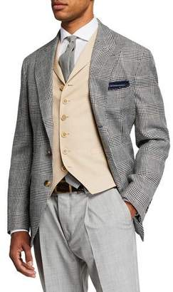 Brunello Cucinelli Men's Retro Prince of Wales Plaid Sport Jacket