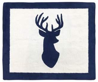 JoJo Designs Sweet Navy & White Woodland Deer Rug (2'x3') - Sweet