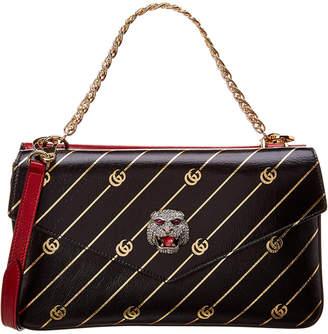 Gucci Medium Double Leather Shoulder Bag
