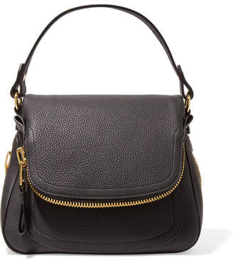 TOM FORD - Jennifer Medium Textured-leather Shoulder Bag - Black $2,450 thestylecure.com