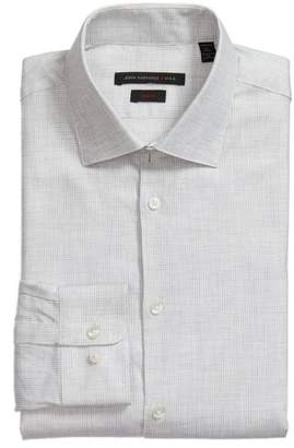 John Varvatos Slim Fit Microcheck Dress Shirt