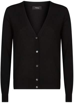 Theory Wool V-Neck Cardigan