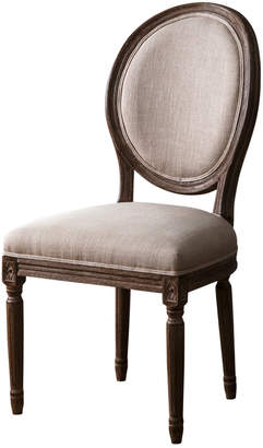 Abbyson Living Oliver Vintage Wheat Linen Round Back Dining Chair