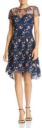 Adrianna Papell Autumn Garden Embroidered Dress