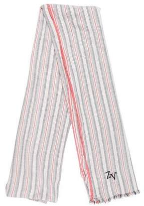Zadig & Voltaire Printed Raw-Edge Scarf