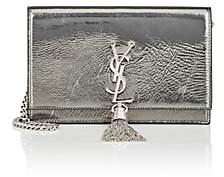 Saint Laurent Women's Monogram Kate Leather Chain Wallet-Silver