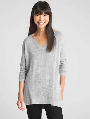 Gap Softspun V-Neck Pullover Sweater Tunic