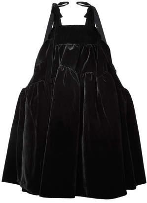 Cecilie Bahnsen - Bey Velvet Midi Dress - Black