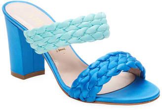 Aperlaï Braided High-Heel Sandal