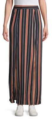Miss Selfridge Striped Slit Maxi Skirt