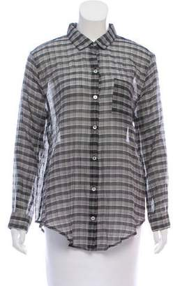 Objects Without Meaning Plaid Button-Up Top w/ Tags