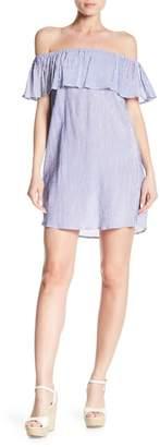 Bishop + Young Stripe Off-the-Shoulder Dress