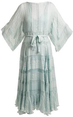 Zimmermann Whitewave Veil Silk Dress - Womens - Light Green