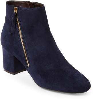 Cole Haan Marine Blue Saylor Grand Suede Booties