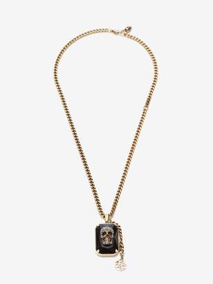 Alexander McQueen Jeweled Skull Necklace