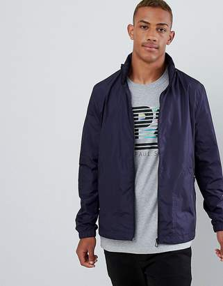Paul Smith Nylon Zip Through Jacket In Navy
