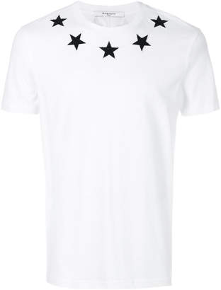 Givenchy Cuban-fit star appliqué T-shirt